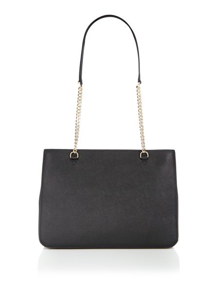 DKNY Saffiano black chain tote bag
