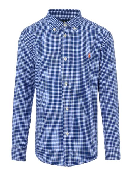 Polo Ralph Lauren Boys Gingham Small Pony Logo Shirt