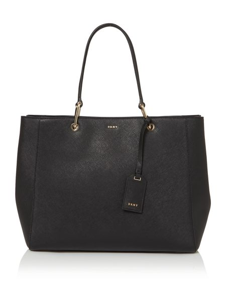 DKNY Saffiano black tote shoulder bag