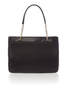 DKNY Gavensport black pinstripe tote shoulder