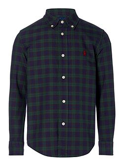 Boys Oxford Plaid Shirt