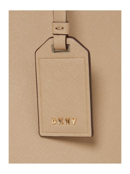 DKNY Saffiano neutral tote shoulder bag