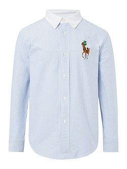 Boys Oxford Stripe Shirt
