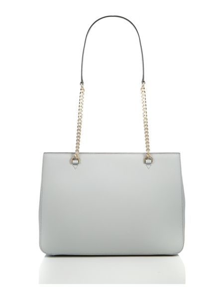 DKNY Saffiano light grey chain tote bag