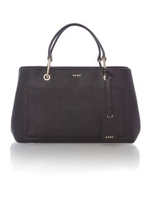 DKNY Saffiano black small pocket tote bag