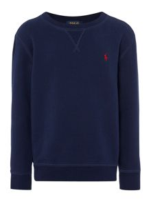 Polo Ralph Lauren Boys Crew Neck Polo Pony Logog Sweater