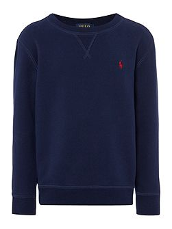 Boys Crew Neck Cotton-Fleece Sweatshirt