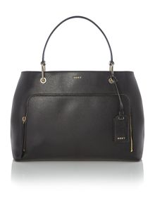 DKNY Saffiano black medium pocket tote bag