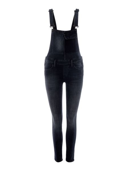 Calvin Klein Skinny dungaree in black washed released