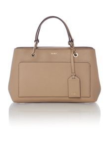 DKNY Saffinao neutral small pocket tote bag