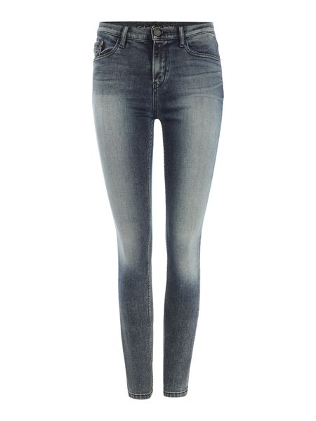 Calvin Klein High rise skinny jean in turbulent blue