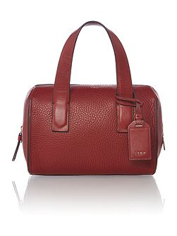 Tribca red small tote cross body bag