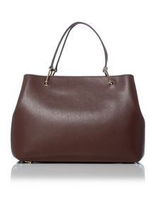 DKNY Saffinao burgundy medium pocket tote bag