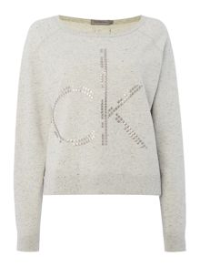 Calvin Klein Jesa crew neck logo sweat