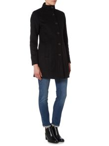 Barbour Kerrera single breasted wool coat