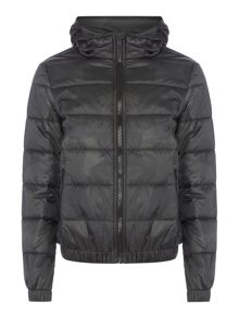 Replay Jacket with geometric camouflage print