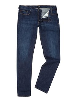 J06 slim fit dark rinse jeans