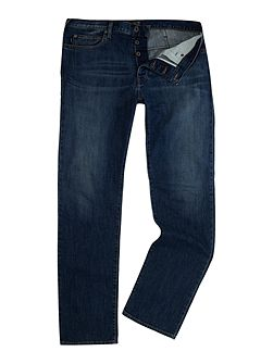 J21 regular fit dark rinse jeans
