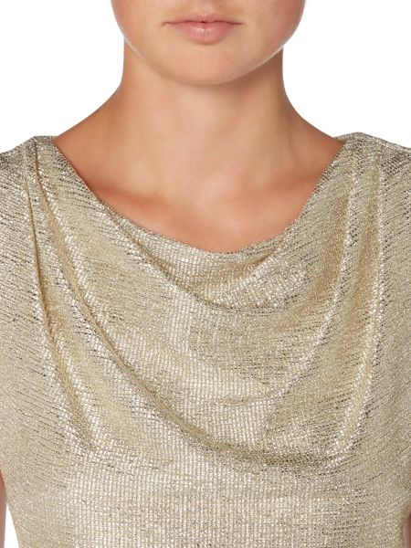 Ariella Metallic shift dress