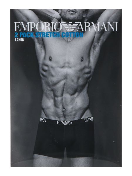 Emporio Armani 2 Pack of Large Logo Boxer