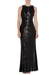 Ariella Sleeveless Beaded Front Gown
