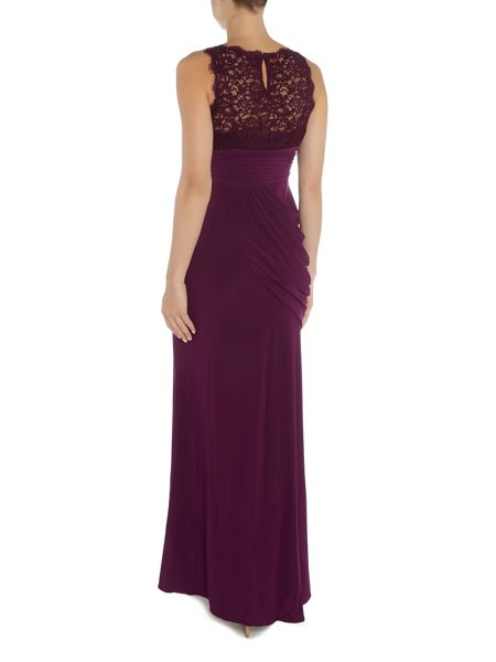 Adrianna Papell Sleevless Sequin Lace Jersey Gown