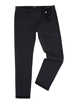 Tapered-fit stretch dobby trousers