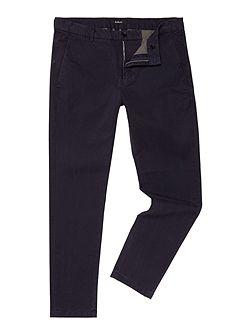 Tapered-fit stretch twill trousers