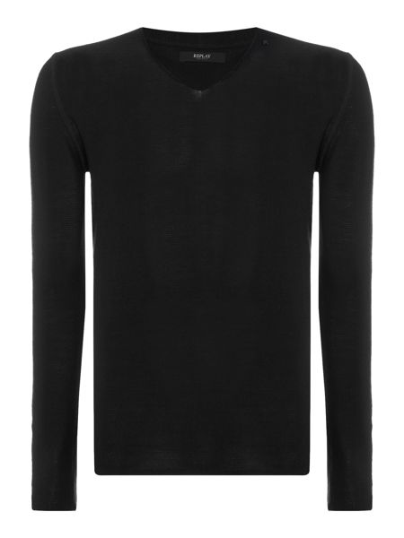 Replay Wool blend v-neck jumper