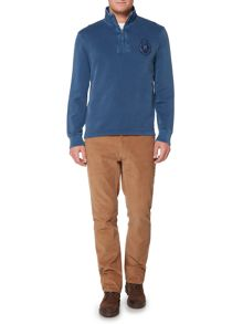 Howick Edmonton Plain Zip Up Funnel Neck