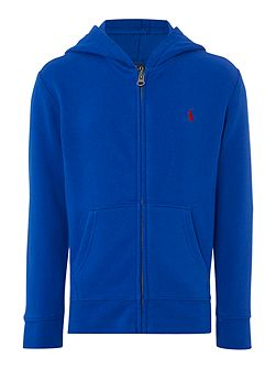 Boys Zip Through Cotton-Fleece Hoody