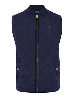 Boys Quilted Gilet