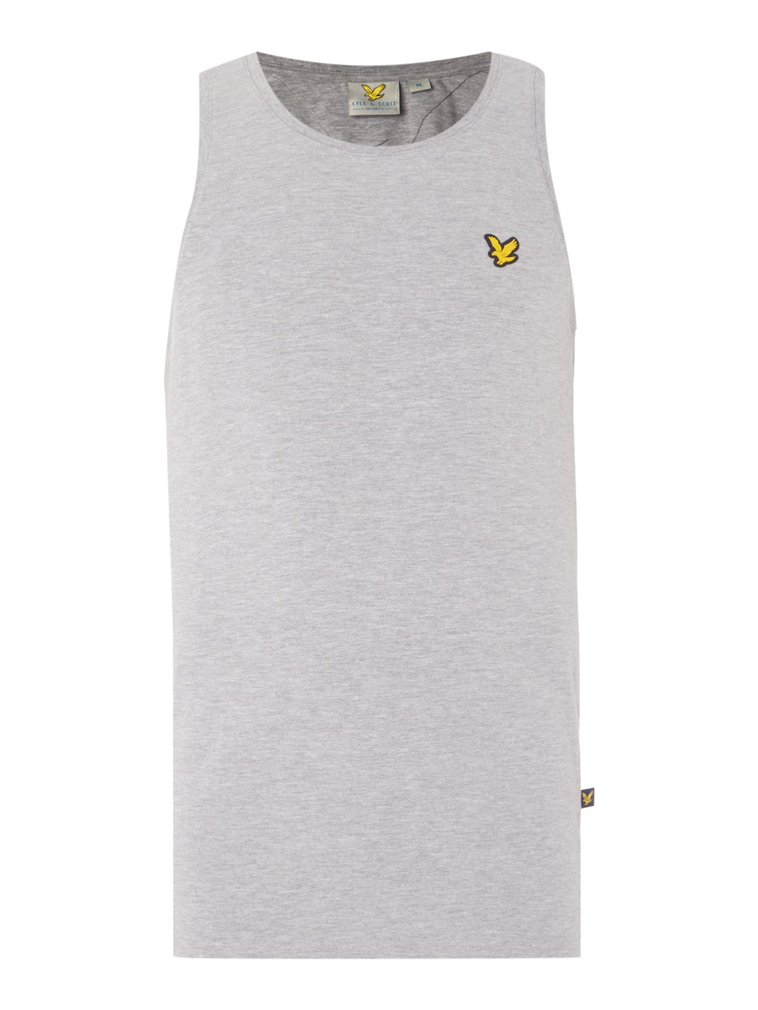 Lyle and Scott Men's Lyle and Scott Sports Training Vest, Light Grey Marl