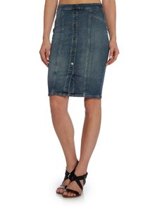 Calvin Klein High rise skirt in gogo blue