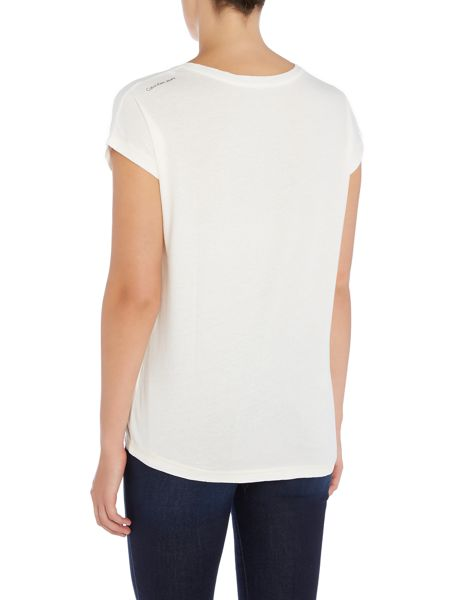 Calvin Klein Short sleeve crew neck straight fit tee