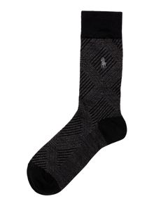 Polo Ralph Lauren Merino Wool Glen Plaid Sock