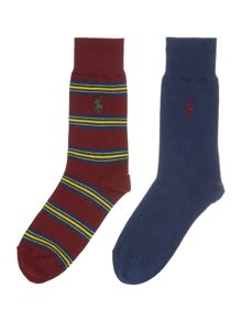 Polo Ralph Lauren Egyptian Cotton Multistripe Sock