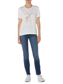Barbour Scoop neck deer graphic print t-shirt