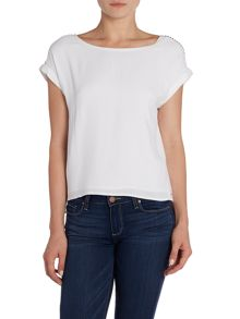 Calvin Klein Elizabeth short sleeved round neck blouse