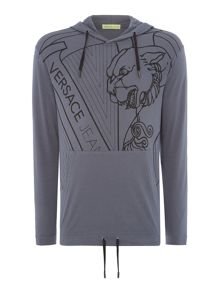 Versace Jeans Lightweight VJ logo hoodied sweat top
