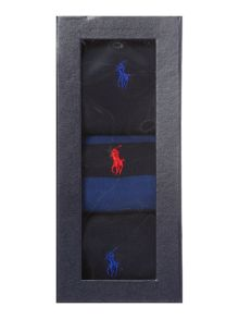 Polo Ralph Lauren 3 Pack Rugby Stripe Socks In A Box