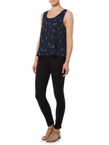 Vila Sleeveless Print Top
