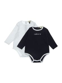 Armani Junior Boys 2 Long Sleeve Bodysuit Pack