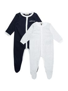 Armani Junior Boys 2 Pack All-in-One with Feet