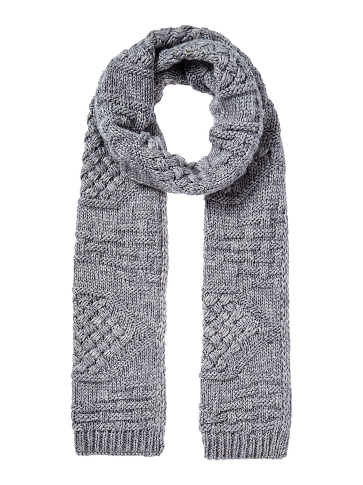 Vintage Scarves- New in the 1920s to 1960s Styles Linea Cable Knit Scarf Grey £15.00 AT vintagedancer.com