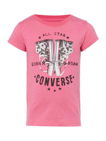 Converse Girls Studded Shoe Graphic Tee