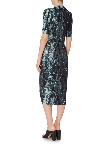 Label Lab Bark print jersey dress