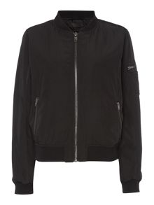 Label Lab Nuevo black bomber jacket