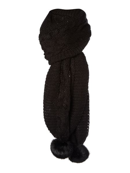 Therapy Sequin Pom Scarf