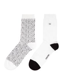Calvin Klein Repeat logo 2 pair pack ankle socks